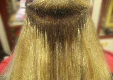 Коррекция капсульного наращивания волос